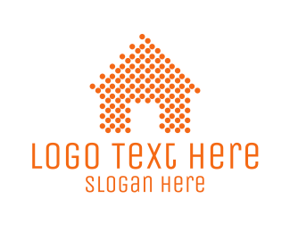 Mortgage Real Estate Orange Dots Home logo design