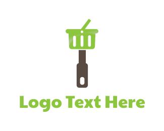 Picnic - Kitchen Shopping Basket logo design
