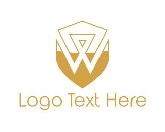 Letter W - Golden Letter W logo design