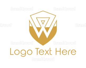 Fortune - Golden Letter W logo design