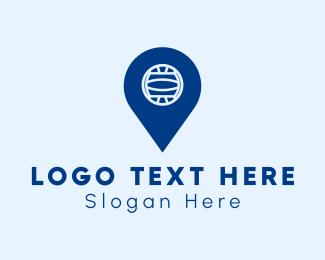 Waterpolo - Water Polo Location Pin logo design