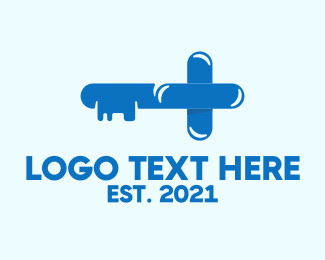 Drug Store - Health Key logo design