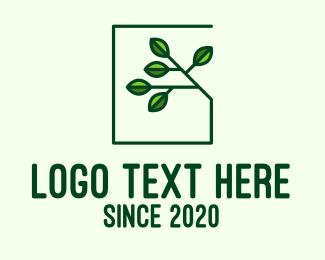 Eco Living - Green Eco House logo design