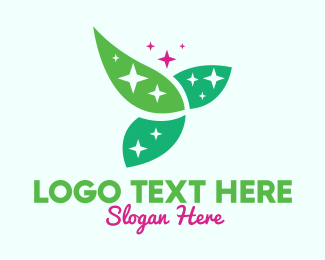 Environtment - Shining Organic Leaves logo design