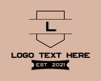 Lawfirm - Architecture Contractor Letter logo design