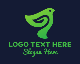 Bird Silhouette - Business Bird logo design