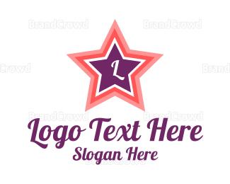 Celebrity - Pink Star Lettermark logo design