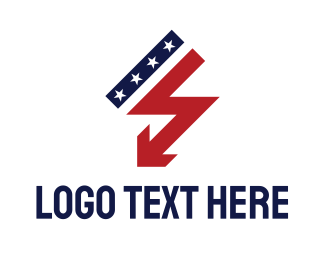 Lightning - USA Thunder logo design