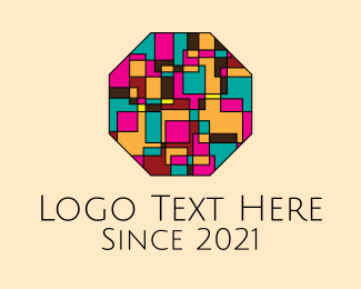 Cubism - Octagon Mosaic Art logo design