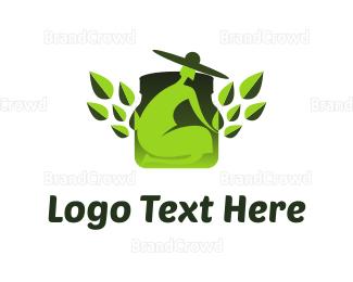 Garden - Green Gardener logo design