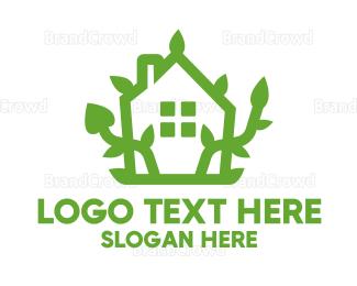 Garden - Eco Plant House logo design