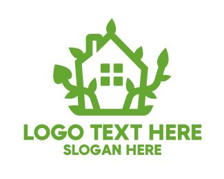 Plant - Eco Plant House logo design