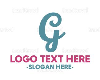 Letter G - Cursive Letter G logo design