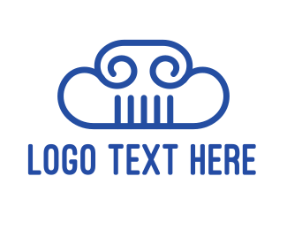 Pantheon - Cloud Column logo design