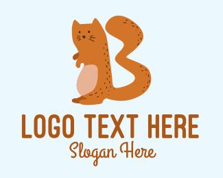 Playful - Playful Cat Letter B  logo design