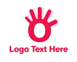 Hello - Hand Letter O logo design