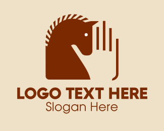 Stables - Horse Stableman Hand  logo design