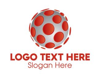 Simple - 3D Virus Sphere  logo design