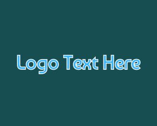 Wordmark - Blue Wordmark logo design