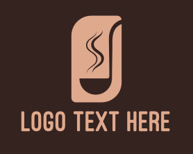 Restaurant - Minimalist Brown Ladle logo design