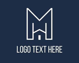 Home Improvement - Modern Home logo design
