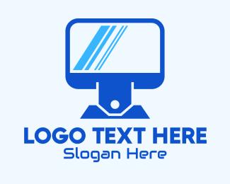 Screen - Computer Price Tag logo design