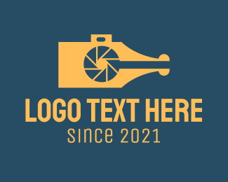 Photojournalist - Camera Pen  logo design