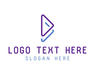 Download - Blue Violet Play Symbol logo design