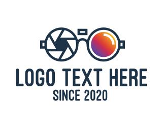 Spy - Modern Shutter Sunglasses logo design