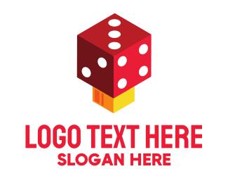 Board Game - Dice Mushroom logo design