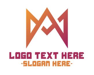 Spike - Spiked Letter M logo design