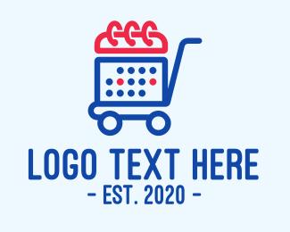 Mart - Shopping Calendar Cart logo design
