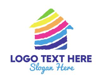 House Painter - Colorful House logo design