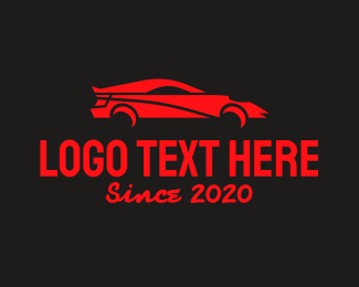 Drive - Red Sports Car logo design