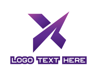 Zigzag - Violet X Gaming logo design