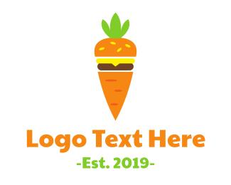 Burger - Carrot Burger logo design