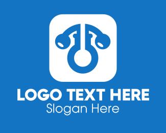 Private Security - Gym Keyhole App logo design