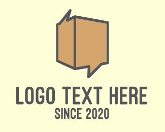 Pack - Brown Chat Box logo design