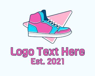 Runner - Fashion Sneakers logo design