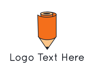 Eraser - Pencil Roll logo design