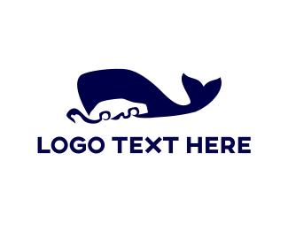 Dolphin - Blue Whale Car logo design