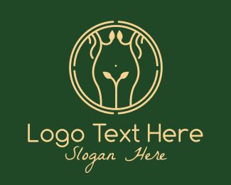 Massage Therapy - Nature Woman Body Massage  logo design