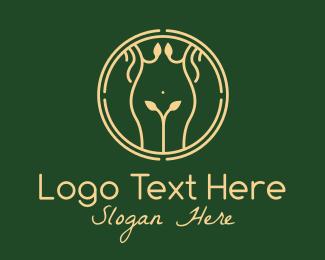 Massage - Nature Woman Body Massage logo design