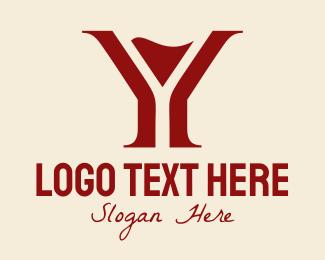 Magenta - Cocktail Bar Letter Y logo design