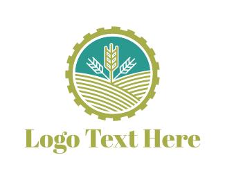 Hydroponic - Agriculture Gear logo design