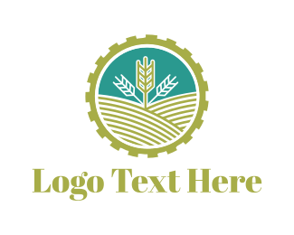 Wheat - Agriculture Gear logo design