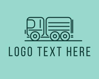 Transport - Green Transport Truck  logo design