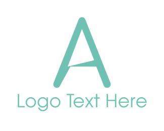 Lettermark A - Simple Mint Green Letter A logo design