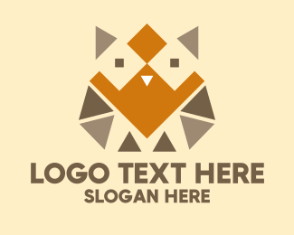 Bird Of Prey - Geometric Barn Owl logo design
