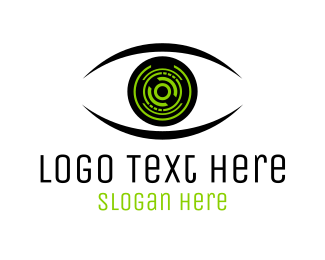 Geforce - Eye & Technology logo design